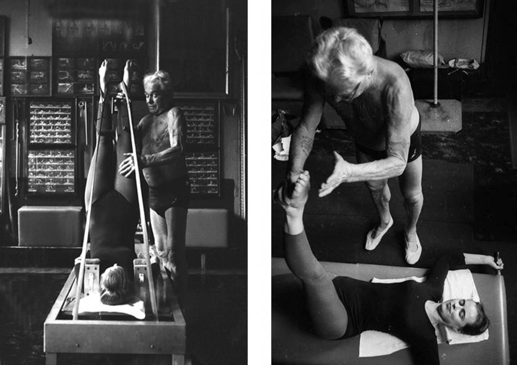 """""""Yo invente todas esos aparatos de Pilates. Pensé, ¿por qué usar mi fuerza?, puedo inventar un aparato que lo haga por mí, ¿ves?... resiste el movimiento de una manera correcta, por lo que esos músculos internos largos realmente tienen que trabajar en contra de él, es por ello que se puede concentrar el movimiento. """"Joseph Pilates."""