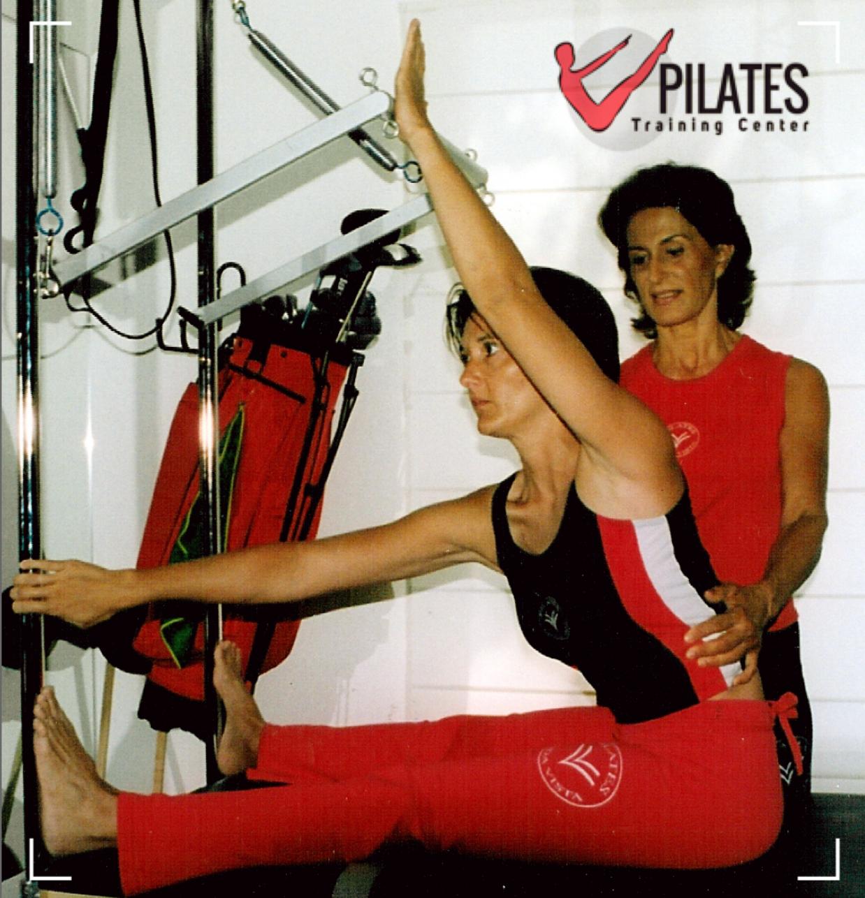 """""""Guadalupe Ruiz Giménez dando clase a Myriam Arias-Salgado cuando ésta se iniciaba en Pilates"""""""