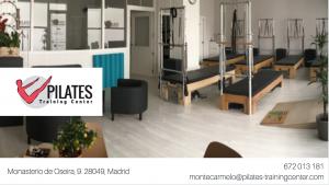 Desde el día 1 de abril, abrimos un nuevo estudio Pilates Training Center en situado en un amplio local a pié de calle, en el número 9 de Monasterio de Oseira, en el barrio de Montecarmelo.